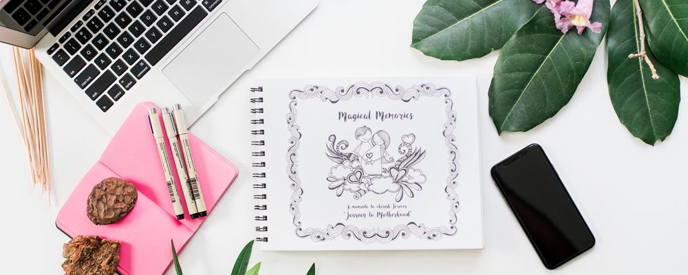 Hand-drawn Pregnancy Journal